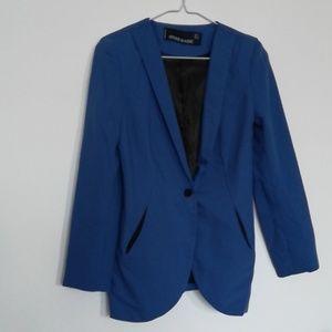 Jackets & Blazers - Cobalt blue lapel blazer lined size s
